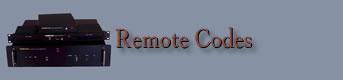 Remote Volume Control Codes